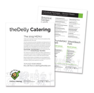 menu thumbnail of the delly catering